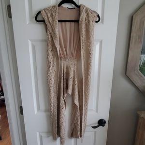 Crochet crop vest